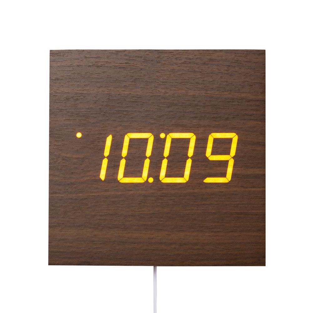 【PLUS DECO】ウッドLED掛け置き時計【IAC-5663】